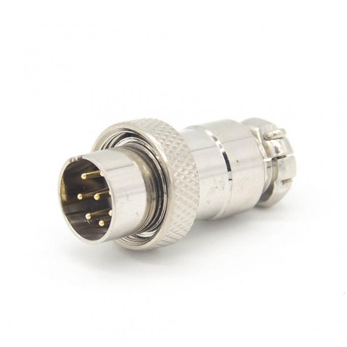 航空插头连接器GX16 8芯直式反装公头接线连接器