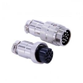 航空插头15芯直式公母防水航空对接连接器GX20