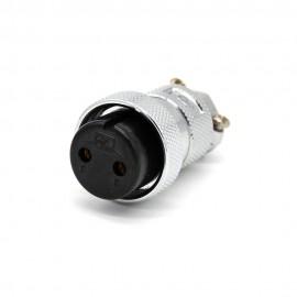 GX30航空插头2芯直式母头圆形接线连接器