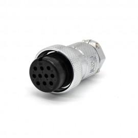 直式插头GX30 10芯母头圆形接线航空连接器