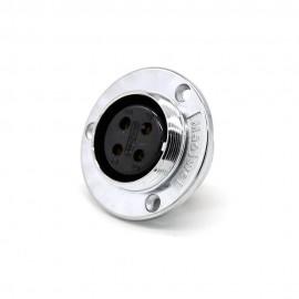 4芯航空插座GX30反装母头圆盘法兰安装接线连接器
