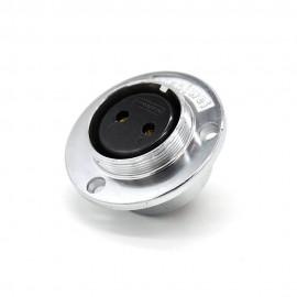 3芯航空插座 GX35三孔圆形法兰公头插座