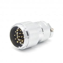 4芯航空插头插座GX35连接器直式接线金属外壳母插头公插座