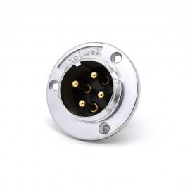 4芯航空插座 GX48三孔圆形法兰公头常规插座