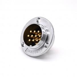 10芯航空插座 GX48三孔圆形直式常规公插座