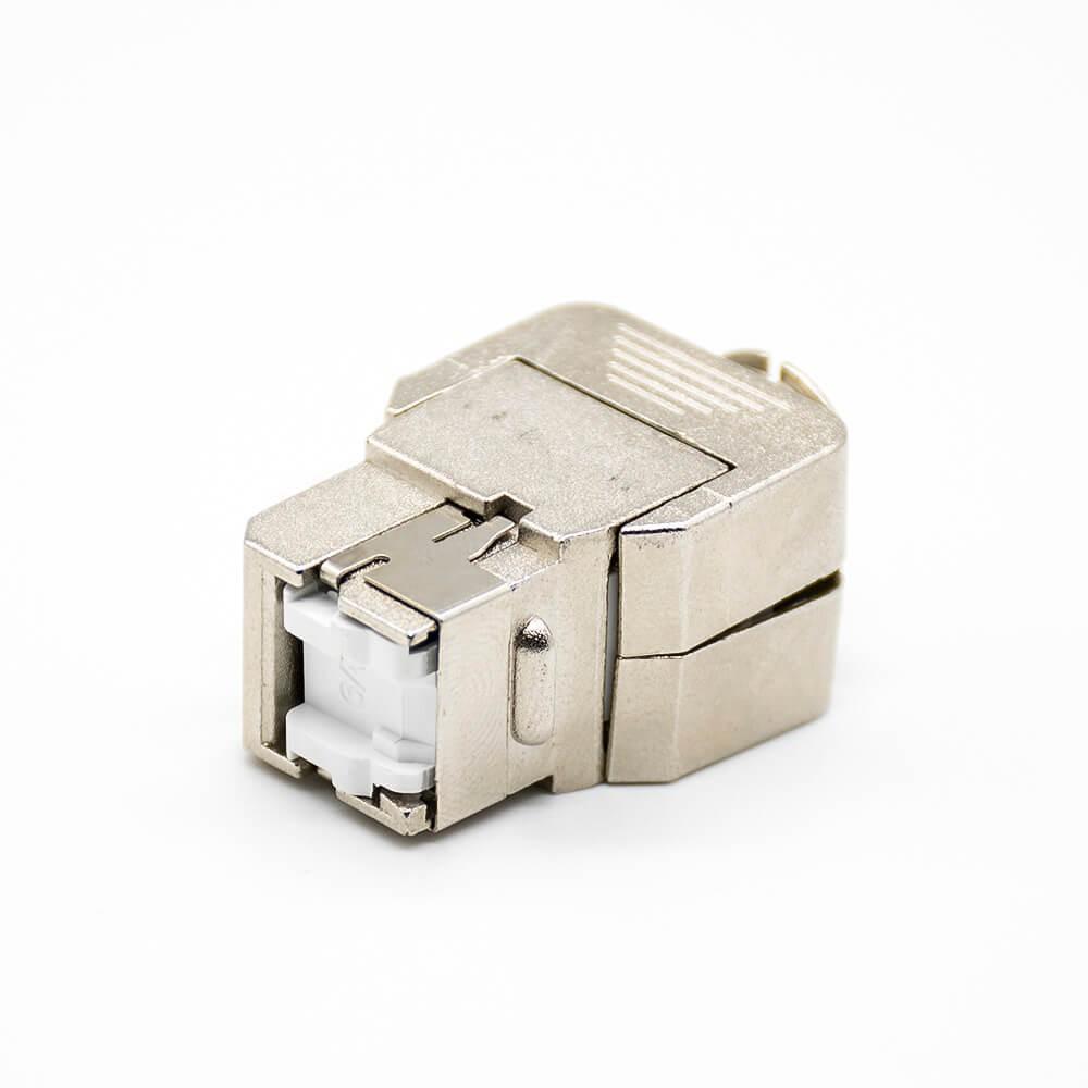 超五类免打RJ45模块单端口镀金触头插孔不带屏蔽8芯插座