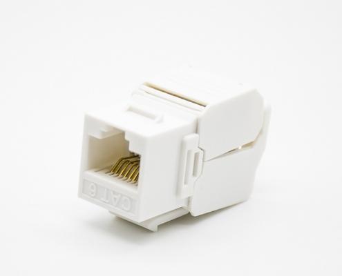 非屏蔽RJ45插座用于六类线材直式插孔8芯单端口网络模块
