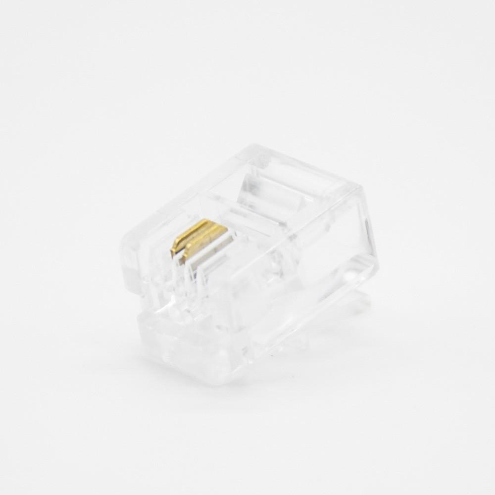 电话水晶头RJ11RJ12用于CAT3电缆4芯非屏蔽插头