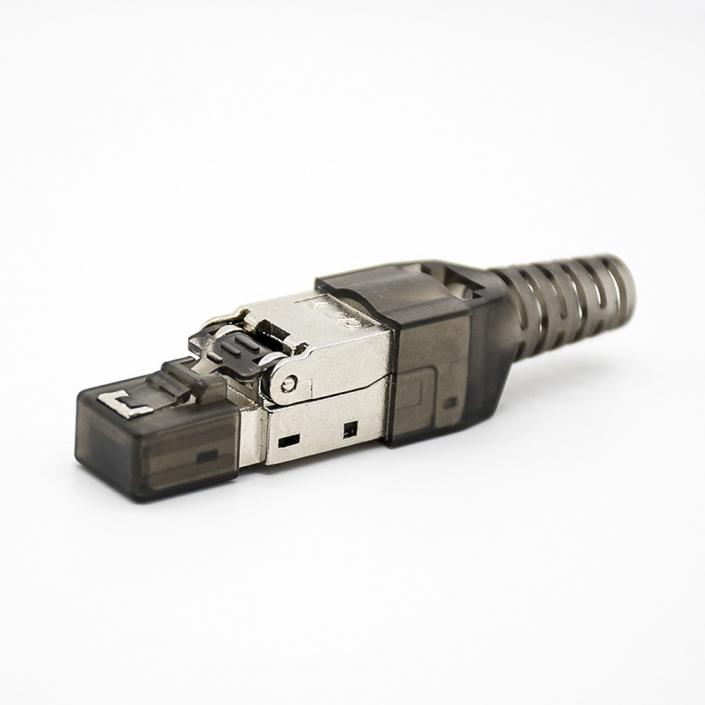 RJ45信息模块插头免工具直式带屏蔽用于cat5ecat6cat6acat7
