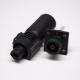 储能高压连接器350A插头插座12mm黑色IP67防水直式铜牌连接