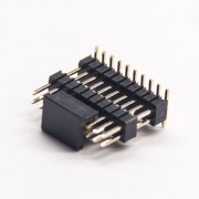 10pcs双排贴片插针180度双塑排针1.27间距穿孔式pcb板安装