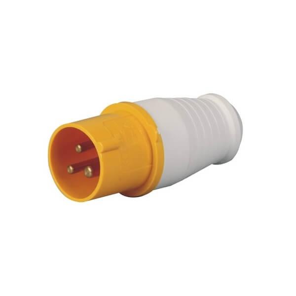 工业连接器插头IEC6030932A3芯黄色2相IP44防水