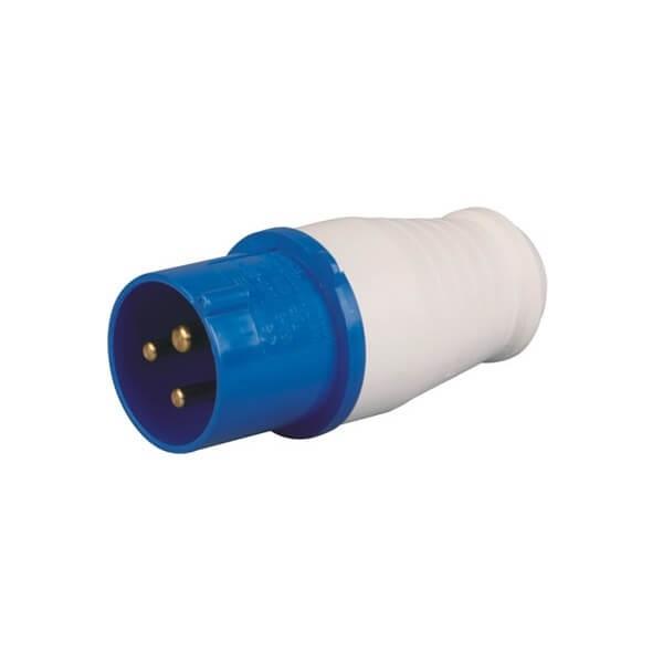 蓝色工业插头IEC6030916A3芯2相IP44防水