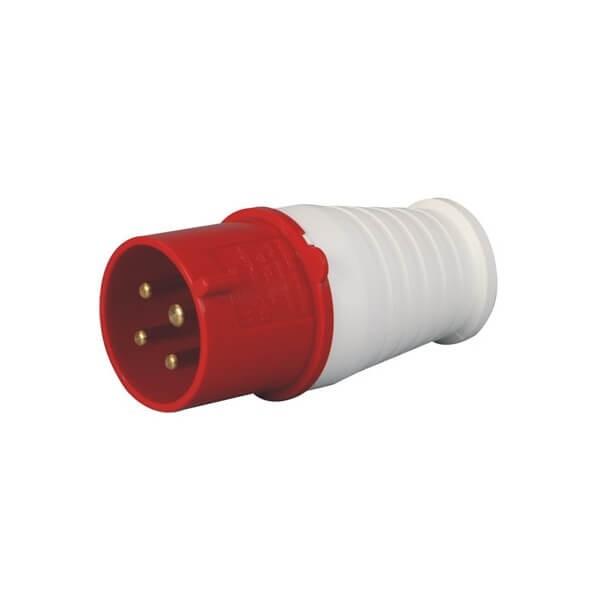 工业耦合器插头CEE/IEC16A4芯3相IP44防水