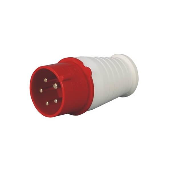 CEE工业插头5芯16A3相地线IP44防水