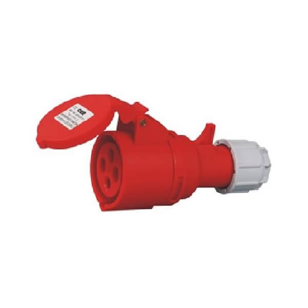 室外工业插座4芯16AIP44可移动插座