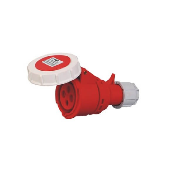 4芯工业连接器16AIP67防水红色