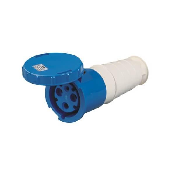 125A工业插头3芯IP672相蓝色