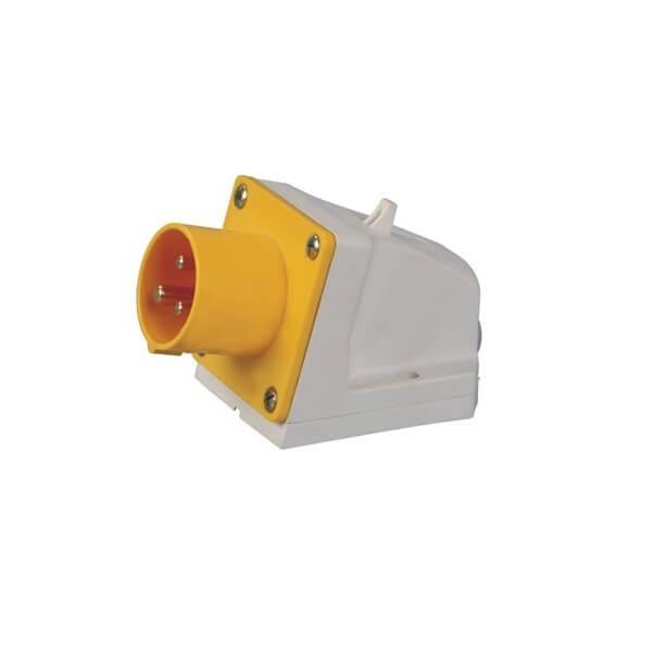 工业连接器16A3芯IP44明装器具插座